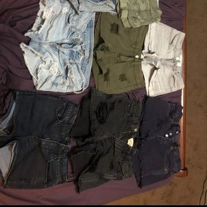 Shorts Bundle; Pacsun, Hollister, American Eagle